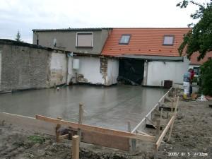 Bodenplatte Anbau