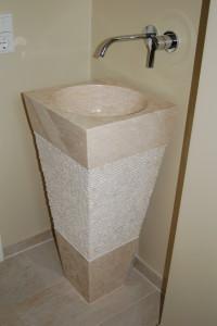 Marmorstandwaschbecken