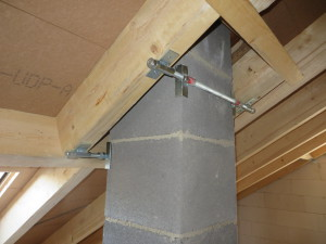 Schornsteinanschluss, Dach mit höherwertigen Unterdeckpltten anstelle Unterspannbahn