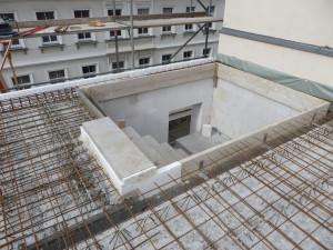 Bewehrung Decke 2. Obergeschoss, Betonfertigteiltreppe