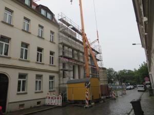 Ansicht Straßenseite mit Anschluss an Nachbargebäude