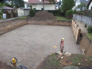 Bodenaustausch unter der Bodenplatte