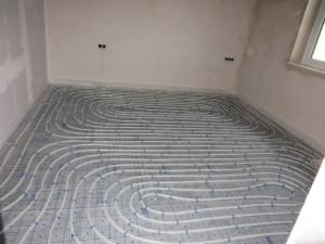Fußbodenheizung ist ausgelegt