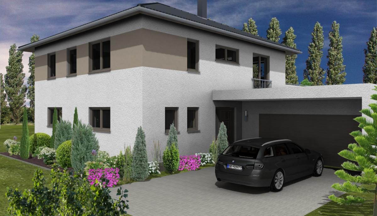errichtung einfamilienhaus mit doppelgarage in taucha kamlot bau gmbh. Black Bedroom Furniture Sets. Home Design Ideas