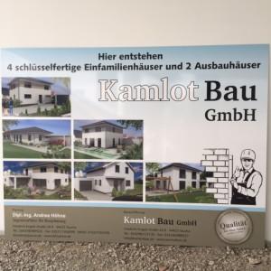 Unser Bauschild für 6 Häuser in Taucha