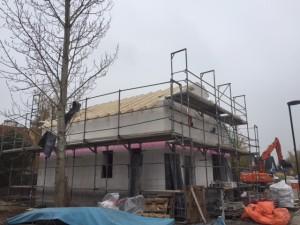 Zimmererarbeiten für den Dachstuhl