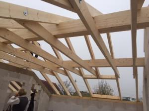 Dachstuhl mit Wechsel für Dachflächenfenster