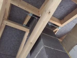 Schornsteinanschluss in der Dachkonstruktion