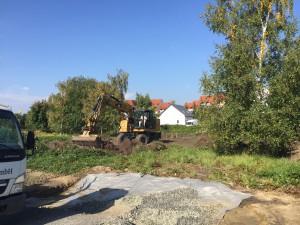 Beräumung des Baugrundstückes