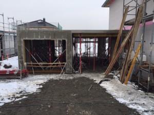 Anbau von Garage und Carort mit Fertigteilelementen
