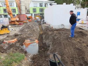 Entwässerungskanalarbeiten