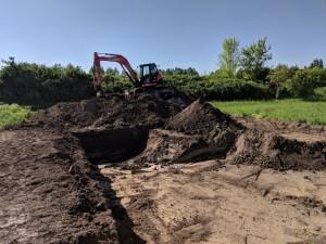 Aushub der Baugrube