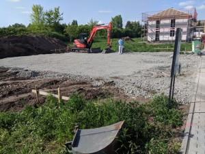 Einbau Bodenaustausch / Gründungspolster