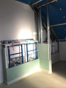 Estrichverlegung / Rohinstallation Sanitär