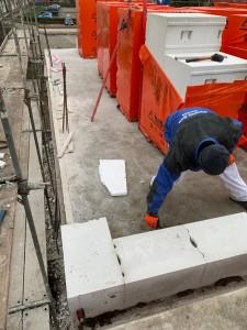 Anlegen der neu aufzumauernden Wände