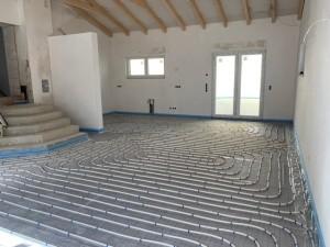 Verlegung Fußbodenheizung Anbau
