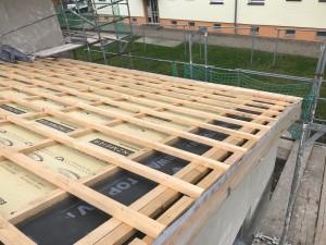 Aufsparrendämmung Dach Anbau mit lattung und Konterlattung