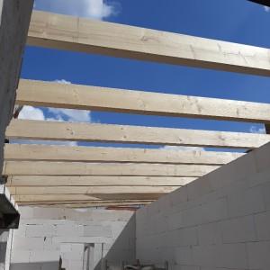 Dachkonstruktion für den Anbau
