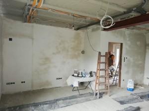 Fertigstellung Innenputz im Wohnbereich