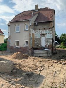 Gartenansicht Bestandsgebäude - alle Anbauten und das Hofgebäude sind beseitigt