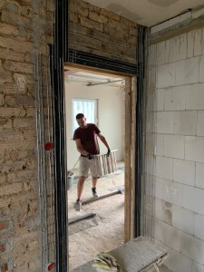 Putzträger im Bereich von Holzbauteilen (hier historische Türöffnung)