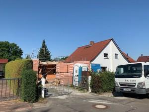 Baustelle mit begrentem Platzangebot