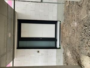 Hauseingangstür - vorerst mit Bautürfüllung