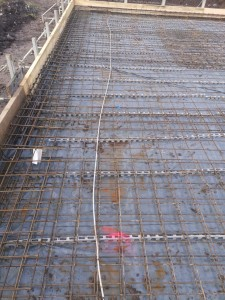 Schalung / Bewehrung / Fundamenterder Bodenplatte