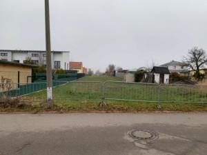 Baugrundstück Doppelhaushälfte links