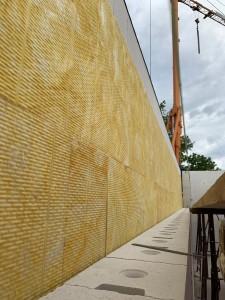 Haustrennwand mit Haustrennwandplatten