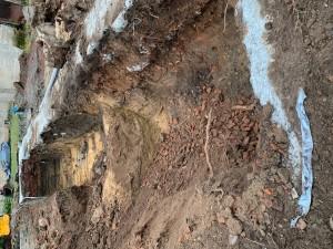 Aushubarbeiten für Bodenaustausch