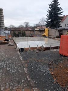 Bodenplatte betoniert