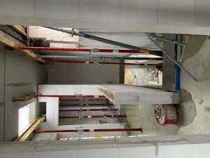 Abstützung der Filigrandeckenelemente im Obergeschoss