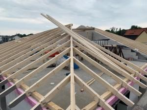 Errichtung des Dachstuhles