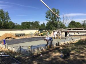 Betoneinbau für Bodenplatte