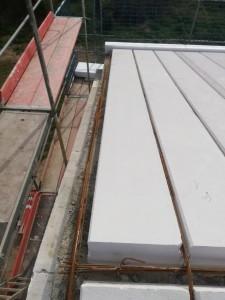 Ringanker und massive Dachplatten