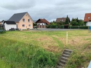 Baugrundstück - Gartenseite