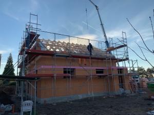 Errichtung Dachstuhl