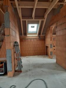 Dachflächenfenster im Rohbau von innen