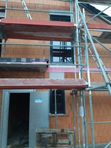 Beginn Fenstereinbau