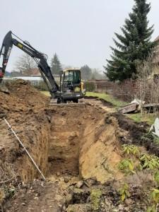 Baubeginn - Ausheben der Baugrube