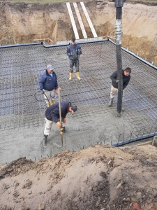 Betoneinbau Bodenplatte